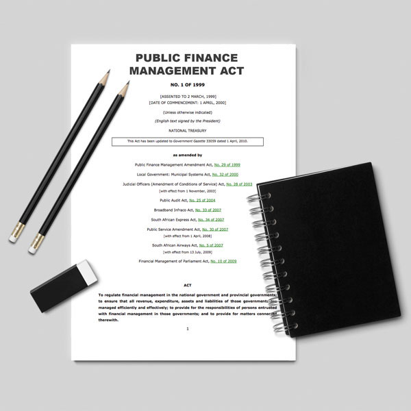 The Public Finance Management Act, Act 1 of 1999