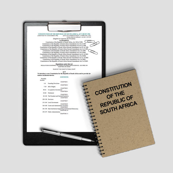 The Constitution of the Republic of SA (Act 108 of 1996)