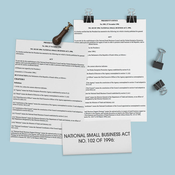 The National Small Business Act No 102 of 1996