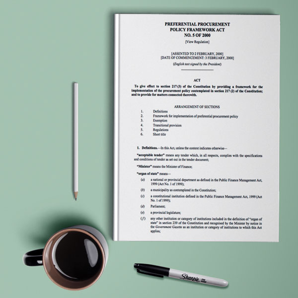 The Preferential Procurement Policy Framework Act
