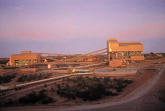 The Process Plant at Venetia Mine at Sunset