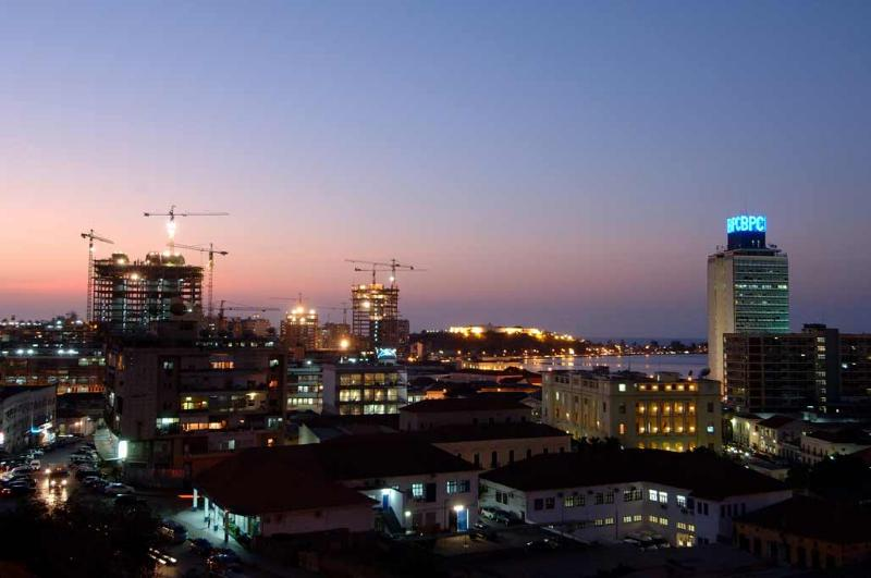 Night shot - Bay of Luanda