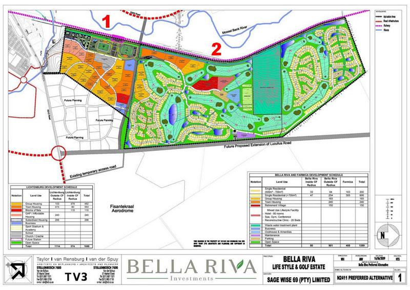 Bella Riva Site Development Plan