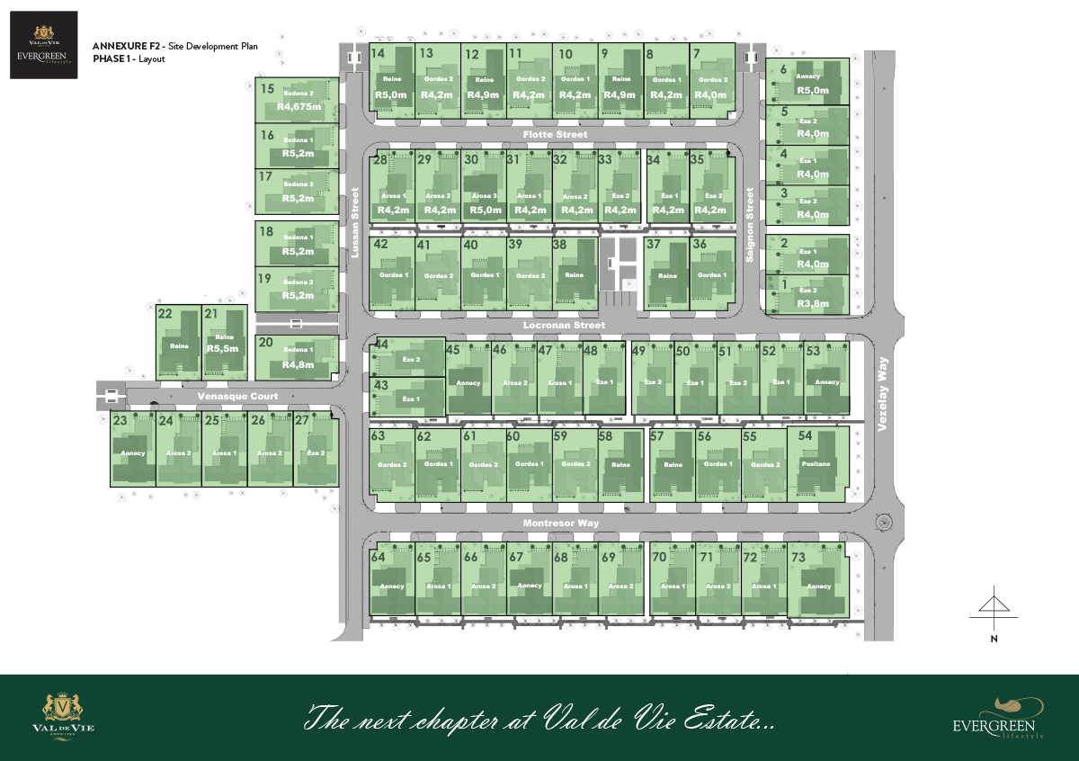 PPA 20592 - 20597 - Evergreen at Val de Vie - Phase 1 Layout